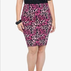 Torrid Leopard Pencil Skirt
